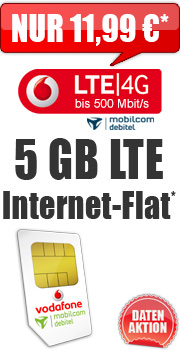 Daten-Aktion Internet-Flat LTE 5.000 D2