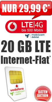 Daten-Aktion Internet-Flat LTE 20.000 D2