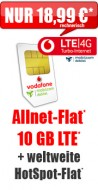 Allnet-Flat + 10 GB LTE 18,99 Aktion