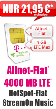 MagentaMobil S 4 GB Young 21,95 Aktion mit Telekom MagentaMobil S Young 26.95 Aktion Vertrag! bestellen