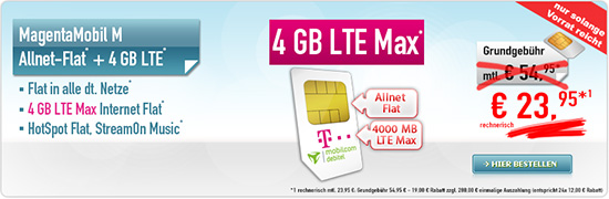 MagentaMobil M 23,95 € Aktion