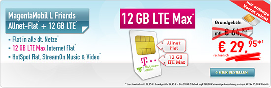 MagentaMobil L Young 29,95 € Aktion