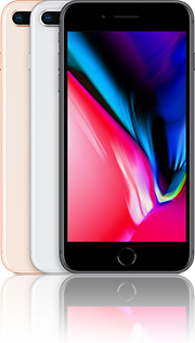 Apple iPhone 8 Plus 64GB mit O2 comfort Allnet Flat LTE +10 Duo Vertrag! bestellen