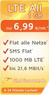 SimDiscount LTE All 1 GB LZ