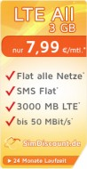 SimDiscount LTE All 3 GB LZ